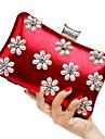 Femei Genți Primăvară Vară Toamnă Iarnă Toate Sezoanele PU Poliester Geantă Seară Imitație de Perle Flori pentru Nuntă
