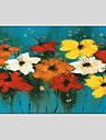 Pictat manual Floral/Botanic Abstract Un Panou Canava Hang-pictate pictură în ulei For Pagina de decorare