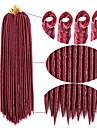 ブレイズヘア かぎ針編み ドレッドロックス / 人毛エクステンション / Dreadlocks / Faux Locs 100%カネカロン髪 / カネカロン 24ルーツ / パック 髪の三つ編み 日常