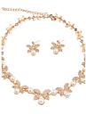 Pentru femei Set bijuterii - Floare, Fluture Clasic, stil minimalist, Modă Include Seturi de bijuterii de mireasă / Κολιέ με Πέρλες Auriu Pentru Crăciun / Cadouri de Crăciun / Nuntă / Petrecere
