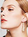 Pentru femei Lung Cercei Picătură - Perle, Imitație de Perle, Ștras European Auriu Pentru Petrecere