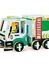 Robotime Leksaksbilar 3D-pussel Pussel Trämodeller Lastbil GDS (Gör det själv) Trä Klassisk Entreprenadmaskiner Barn Vuxna Unisex Present
