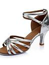 Damă Latin Imitație de Piele Sandale Înăuntru Toc Personalizat Argintiu Personalizabili