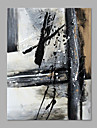 Peint a la main Abstrait Format Vertical,Abstrait Un Panneau Toile Peinture a l\'huile Hang-peint For Decoration d\'interieur