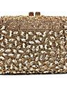 Γυναικεία Τσάντες Μεταλλικό Βραδινή τσάντα Τεχνητό διαμάντι / Αλυσίδα / Μεταλλικό Ανθισμένο Ροζ / Βυσσινί / Ανοικτό Βυσσινί / Κρύσταλλο Βραδινά Τσάντες Κρυστάλλινα