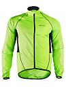 Nuckily Homme Veste de Cyclisme Velo Veste / Coupe-vent / Impermeable Etanche, Sechage rapide, Pare-vent Mosaique Polyester Vert Tenues