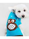 Chat Chien Pull Vetements pour Chien Decontracte / Quotidien Bande dessinee Orange Bleu Costume Pour les animaux domestiques
