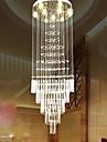 Stil european de scara pandantiv lampă simplu cristal candelabru scara lampă hotel vila duplex