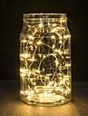 1pc 2m cu acumulator alimentat de la baterie condus cu lanț de lumină rezistent la apă pentru decor de nuntă petrecere de Crăciun