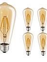 5pcs 4w e27 becuri cu filament condus st64 cub 360lm cald alb filament luminii ac220-240v