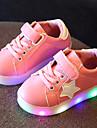 Fete Pantofi Piele Tul Primăvară Vară Toamnă Pantofi Usori Adidași Plimbare LED Pentru Casual Alb Negru Verde Deschis Roz