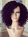 Human Hair Glueless Lace Front Lace Front Wig Brazilian Hair Kinky Curly Wig 180% Density with Baby Hair Natural Hairline African American Wig 100% Hand Tied Women\'s Short Medium Length Long Human