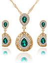 Pentru femei Cristal Set bijuterii - Cristal, Ștras Picătură Lux, Stil Atârnat, Modă Include Colier / cercei / Seturi de bijuterii de mireasă Rosu / Verde / Albastru Pentru Nuntă / Petrecere / Ocazie
