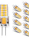 BRELONG® 10pcs 2W 300lm G4 LED-lampor med G-sockel T 20 LED-pärlor SMD 2835 Varmvit Vit 12V