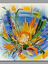 HANDMÅLAD Blommig/Botanisk Modern En panel Kanvas Hang målad oljemålning For Hem-dekoration