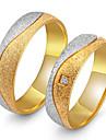 Pentru cupluri Inele Cuplu Zirconiu Cubic Vintage Elegant Zirconiu Cubic Oțel titan Rotund Bijuterii Nuntă Aniversare Petrecere / Seară