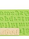 litere mici litere silicon fontă mucegai tort decorare instrumente pentru ciocolată culoare aleatoriu
