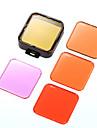 Și set profesional pentru setul de filtre cu lentile de scufundare profesională, inclusiv 5 filtre de lentile pentru gropro 3/4
