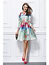 Linia -A Mulată Bijuterie Mini / Scurt Mikado Petrecere Cocktail Rochie cu de TS Couture®