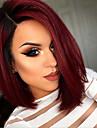 Syntetiskt hår peruker Rak Bob-frisyr Naturlig peruk Korta Röd