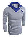 Miesten Hupullinen Puuvilla Painettu Color Block Aktiivinen Pluskoko - T-paita Kameli XL / Pitkähihainen / Kevät / Syksy