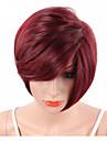 Syntetiska peruker Vågigt / Naturligt vågigt / Naturlig Straight Syntetiskt hår Röd Peruk Korta Naturlig peruk Utan lock