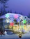 youoklight 12w rgbw decorare de vacanță impermeabilă fulg de zăpadă proiector lampă us / eu plug ac100-240v 1pcs