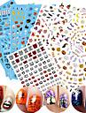 1 Mönster 3D Nail Stickers Klistermärke Gör-det-själv-produkter 3D Mode Dagligen Hög kvalitet