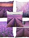 5 pcs Naturel/Organique Polyester Taie d\'oreiller Housse de coussin, Texture Plage Euro Soutenir Traditionnel/Classique Retro