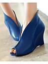Femme Chaussures Polyurethane Printemps Confort Chaussures a Talons Pour Decontracte Blanc Noir Bleu