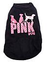 Katt Hund T-shirt Hundkläder Bokstav & Nummer Svart Cotton Kostym För husdjur Herr Dam Mode