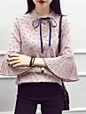 Pentru femei Stand Bluză Bumbac Buline / Manșon flare
