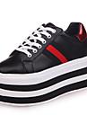 Damă Adidași Plimbare Pantofi formale PU Toamnă Casual Rochie Party & Seară Dantelă Toc Jos Negru Rosu 5 - 7 cm