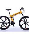 Hopfällbar Cykel Mountainbikes Cykelsport 27 Hastighet 26 tum/700CC Shimano Oljeskivbroms Suspension Fork Viker Vanlig Aluminium