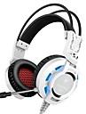K6 hörlurar med hörlurar med dynamisk spelhörlurar som kan hopfällas med mikrofon med headset för volymkontroll