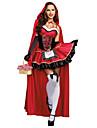 Lilla Rödluvan Cosplay Kostymer/Dräkter Maskerad Kvinna Halloween Karnival Festival / högtid Halloweenkostymer Röd Andra Vintage
