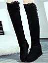 Damă Pantofi Piele nubuc PU Toamnă Iarnă Confortabili Cizme Pentru Casual Negru Rosu