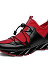 בגדי ריקוד גברים קנבס סתיו / חורף נוחות נעלי אתלטיקה ריצה שחור / שחור לבן / שחור אדום