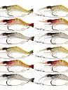 12 st Fiskbete Räka Jerkbaits Mjukt bete Silikon Självlysande Sjöfiske Flugfiske Kastfiske Isfiske Spinnfiske Jiggfiske Färskvatten Fiske