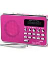L-938 FM Radio portabil MP3 player Card TF Receptorul mondial Rosu / Albastru / Roz
