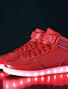 Femme Chaussures Similicuir Automne / Hiver Confort / Chaussures Lumineuses Basket Marche Talon Bas La boucle du crochet / LED Noir /