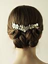 Aliaj Diadema-Nuntă Ocazie specială Zi de Naștere Party/Seara Tiare Piepteni de Păr 1 Bucată