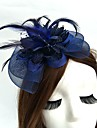 Net Fascinators Hats Headwear Birdcage Veils with Floral 1pc Wedding Special Occasion Headpiece