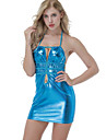 Pentru femei Ultra Sexy Costume Pijamale,Subțire Mată Albastru piscină