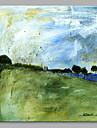 Peint a la main Abstrait Carre, Artistique Toile Peinture a l\'huile Hang-peint Decoration d\'interieur Un Panneau