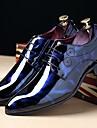 Bărbați Pantofi Piele Originală Toamnă Iarnă Confortabili Oxfords Dantelă Pentru Casual Party & Seară Negru Bleumarin Vișiniu
