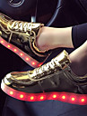 Bărbați Adidași Confortabili Noutăți Pantofi Usori Toamnă Iarnă PU Casual Dantelă Toc Plat Auriu Alb Negru Argintiu Plat