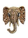 Bărbați Pentru femei Broșe Ștras Personalizat Design Animal Ștras Argilă Elefant Auriu Argintiu Bijuterii Pentru Cadou Scenă