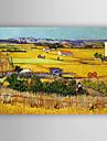 HANDMÅLAD Landskap Horisontell,Ny ankomst En panel Kanvas Hang målad oljemålning For Hem-dekoration
