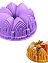 1pc mare castel de coroana silicon tort mucegai 3d ziua de nastere tort tigaie decorare instrumente aleatoare culoare